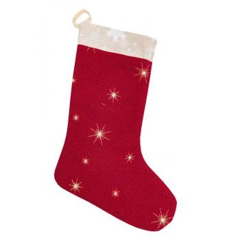 Сапожок для подарков LiMaSo Звездная ночь 25*37 см гобеленовый новогодний арт.EDEN671-CH.25х37