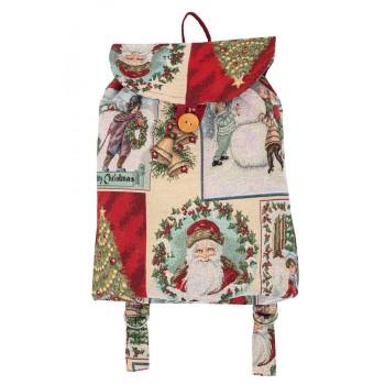 Рюкзачок Limaso Праздничные пожелания 25*37*6см гобеленовый новогодний арт.EDEN033-RD.25х37х6