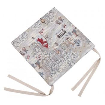 Подушка на табурет LiMaSo Зимняя прогулка 43*43 см гобеленовая новогодняя арт.EDEN854-PS.43х43