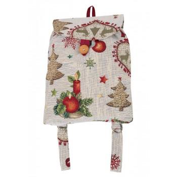Рюкзачок Limaso Праздничный ужин 25*37*6см гобеленовый новогодний арт.EDEN913-RD.25х37х6
