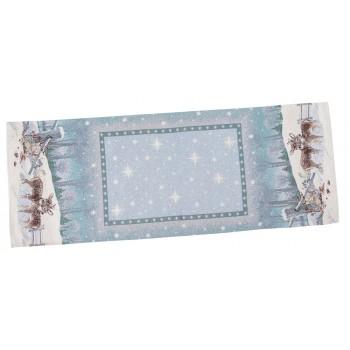 Скатерть-дорожка LiMaSo Полярная звезда 45*140 см гобеленовая новогодняя арт.RUNNER656-45.45х140
