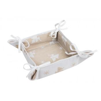 Хлебница LiMaSo 20*20 см полиэстер жаккардовая новогодняя арт.FG00-EDEN033-KH.20х20x8