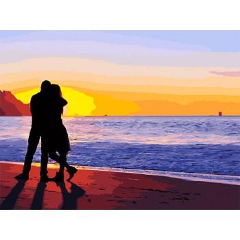 Картина по номерам ArtCraft Влюбленные на побережье 40*50 см арт.10212-AC
