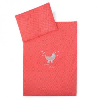 Комплект постельного белья в коляску Ideia детский ранфорс арт.8000010446.горошок червоний