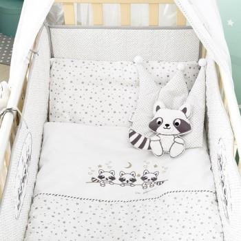 Комплект в кроватку Ideia Енот бязь с бортиками детский арт.8000012929