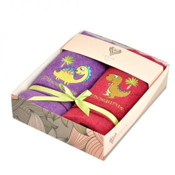 Салфетка для кухни Ideia 40*70 см махровая арт.8000029517.бордо/бузок/динозавр з пальмою