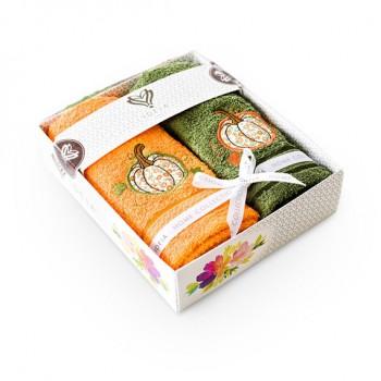 Салфетка для кухни Ideia 40*70 см махровая арт.8000029517.оранж/оливка/гарбуз