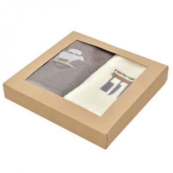 Салфетка для кухни Ideia Aqua Fiber 30*50 см махровая арт.8000032740.шоколад/молоко/Butcher shop