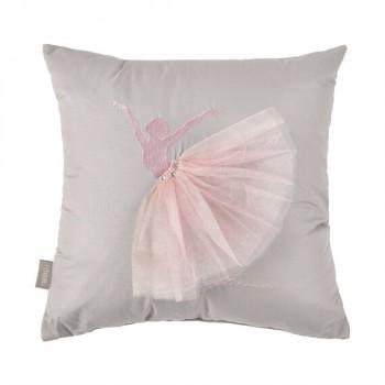Подушка декоративная Ideia Балерина 45*45 см серая арт.8000029797.сірий