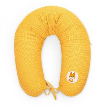 Подушка для кормления Ideia Econom 30*170 см бязь/антиаллергенное волокно арт.8000010805.горошок жовтий
