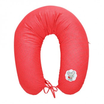 Подушка для кормления Ideia Econom 30*170 см бязь/антиаллергенное волокно арт.8000010805.горошок червоний