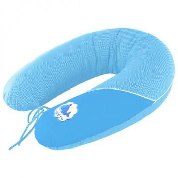 Подушка для кормления Ideia Standart 35*200 см бязь/антиаллергенное волокно арт.8000010804.горошок блакитний