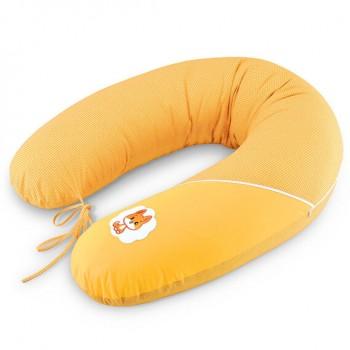 Подушка для кормления Ideia Standart 35*200 см бязь/антиаллергенное волокно арт.8000010804.горошок жовтий