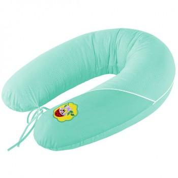 Подушка для кормления Ideia Standart 35*200 см бязь/антиаллергенное волокно арт.8000010804.горошок ментол