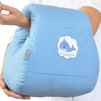 Подушка для кормления Ideia Mini бязь/антиаллергенное волокно арт.8000031999.горошок блакитний