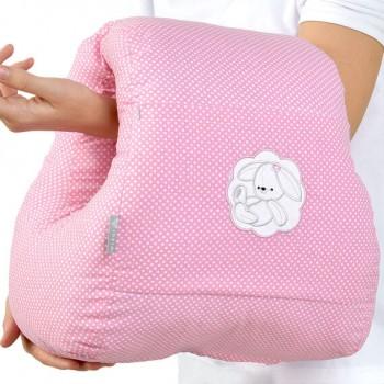 Подушка для кормления Ideia Mini бязь/антиаллергенное волокно арт.8000031999.горошок рожевий