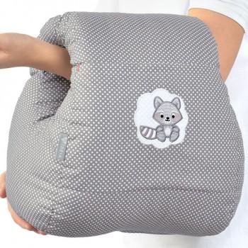 Подушка для кормления Ideia Mini бязь/антиаллергенное волокно арт.8000031999.горошок сірий