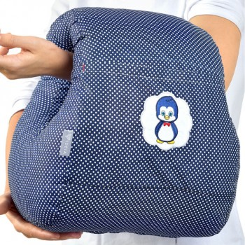 Подушка для кормления Ideia Mini бязь/антиаллергенное волокно арт.8000031999.горошок т/синій