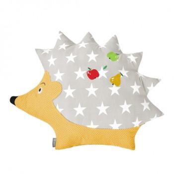 Подушка декоративная Ideia Ежик 46*56 см арт.800073535.зірочки беж/горошок жовтий