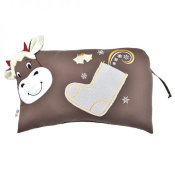 Подушка декоративная Ideia Коровка 35*53 см арт.8000032862.шоколад