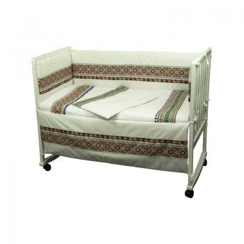 Защита-бортики Руно 60*120 см бязь в кроватку стандарт детский арт.922.02СУ_Зелений