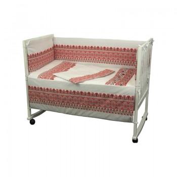 Защита-бортики Руно 60*120 см бязь в кроватку стандарт детский арт.922.02СУ_Червоний