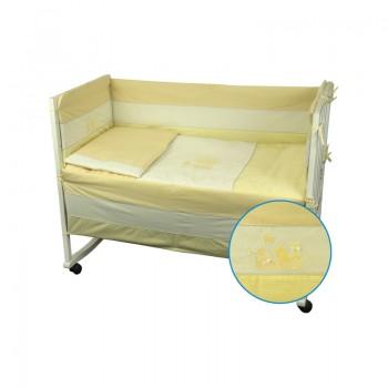 Защита-бортики Руно 60*120 см бязь в кроватку стандарт детский арт.922Кошенята_Жовтий