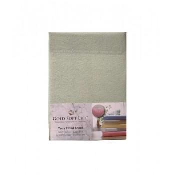 Простынь Gold Soft Life Terry Fitted Sheet 160*200*25см махровая на резинке ментоловая арт.ts-01510