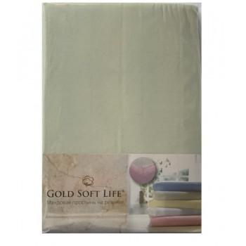 Простынь Gold Soft Life Terry Fitted Sheet 160*200*20см трикотажная на резинке ментоловая арт.ts-02038