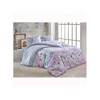 Комплект постельного белья Brielle полуторный ранфорс Mujde lila арт.TAC60209208