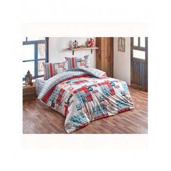 Комплект постельного белья Brielle полуторный ранфорс Poyraz kirmizi арт.TAC60209196