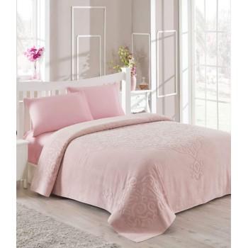 Покрывало-простынь Tac Dama Евро 200*220 см махровое розовое арт.TAC71240911