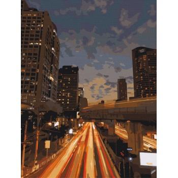 Картина по номерам ArtCraft Ночной Бангкок 40*50 см арт.11213-AC