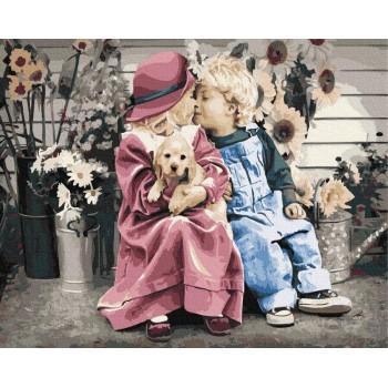 Картина по номерам Rainbow Art Маленькая пара 40*50 см (без коробки) арт.BK-GX35027