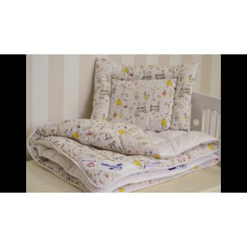 Комплект Billerbeck Малыш детский одеяло 110*140 см подушка 40*55 см хлопок/овечья шерсть теплое арт.0103-02/00