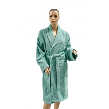 Халат Arya Miranda Soft женский махровый с шальке р. L Аква арт.TRK111000017466