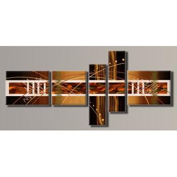 Картина модульная HolstArt Абстракция 94*208см 5 модулей арт.HAB-021