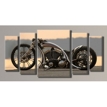 Картина модульная HolstArt Harley-Davidson 55*115см 5 модулей арт.HAB-017