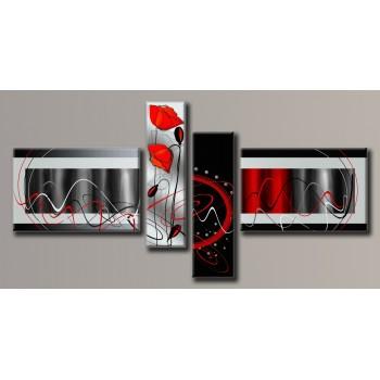 Картина модульная HolstArt Абстракция 105*206см 4 модуля арт.HAF-118