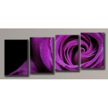Картина модульная HolstArt Бордовая роза 55*128см 4 модуля арт.HAF-115