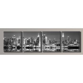 Картина модульная HolstArt New York City 55*202см 4 модуля арт.HAF-066