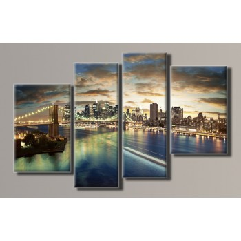 Картина модульная HolstArt Brooklyn Bridge 73*115см 4 модуля арт.HAF-061