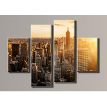 Картина модульная HolstArt New York City 77*102см 4 модуля арт.HAF-051