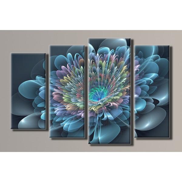 Картина модульная HolstArt Абстракция цветок 59,5*90см 4 модуля арт.HAF-048