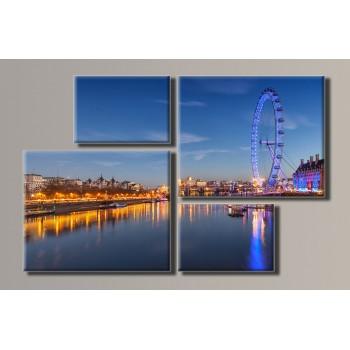 Картина модульная HolstArt London Eye 69*106см 4 модуля арт.HAF-033