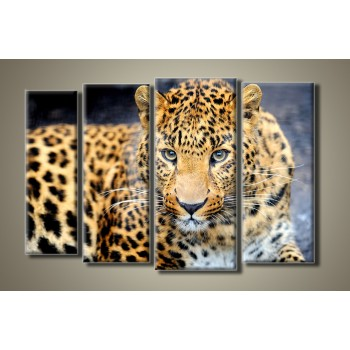 Картина модульная HolstArt Леопард 54*84см 4 модуля арт.HAF-020