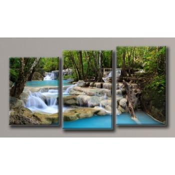 Картина модульная HolstArt Водопад 6 91,5*171см 3 модуля арт.HAT-144