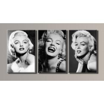 Картина модульная HolstArt Marilyn Monroe 54*111см 3 модуля арт.HAT-056