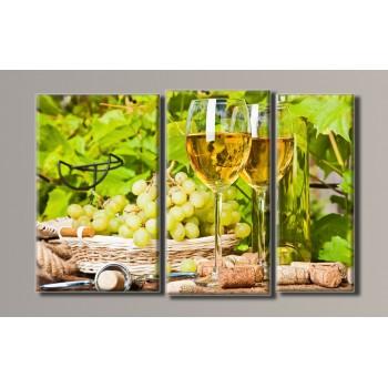 Картина модульная HolstArt Вино 2 54*85см 3 модуля арт.HAT-044