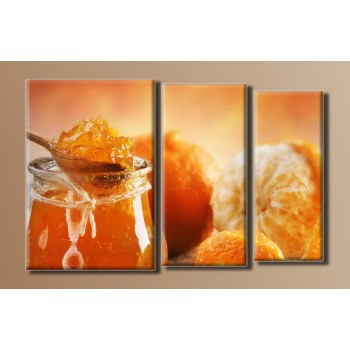 Картина модульная HolstArt Апельсиновый джем 54*85см 3 модуля арт.HAT-037